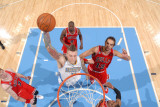 Chicago Bulls v Denver Nuggets: Chris Andersen and Joakim Noah Photographic Print by Garrett Ellwood