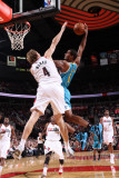 New Orleans Hornets v Portland Trail Blazers: Sean Marks and Trevor Ariza Photographic Print by Sam Forencich