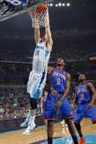 New York Knicks v New Orleans Hornets: Jason Smith and Amar'e Stoudemire Photographic Print by Layne Murdoch
