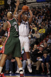 Milwaukee Bucks v Dallas Mavericks: Caron Butler and Drew Gooden Photographic Print by Danny Bollinger