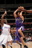 Sacramento Kings v Los Angeles Clippers: Beno Udrih and Willie Warren Photographic Print by Noah Graham