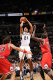 Chicago Bulls v San Antonio Spurs: Richard Jefferson, Joakim Noah and Luol Deng Photographic Print by D. Clarke Evans