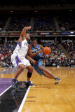 Washington Wizards v Sacramento Kings: Al Thornton and Carl Landry Photographic Print by Rocky Widner
