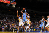 Denver Nuggets v Golden State Warriors: Carmelo Anthony and Reggie Williams Photographic Print by Rocky Widner