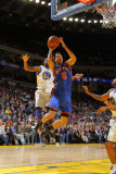 New York Knicks v Golden State Warriors: Dorell Wright and Landry Fields Photographic Print by Rocky Widner
