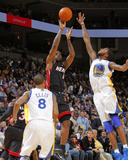 Miami Heat v Golden State Warriors: Lebron James and Dorell Wright Photo by Rocky Widner