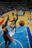 Miami Heat v Dallas Mavericks: Dirk Nowitzki and Dwyane Wade Photographic Print by Bill Baptist