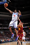 Cleveland Cavaliers v Philadelphia 76ers: Andre Iguodala and Anthony Parker Fotografisk tryk af Jesse D. Garrabrant