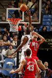 New Jersey Nets v Sacramento Kings: Carl Landry and Brook Lopez Photographic Print by Don Smith