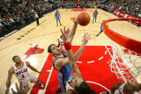 Oklahoma City Thunder v Chicago Bulls: Nenad Krstic and Joakim Noah Photographic Print by Joe Murphy