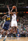 Oklahoma City Thunder v Utah Jazz: Serge Ibaka and Paul Millsap Photographie par Melissa Majchrzak
