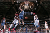 Minnesota Timberwolves v Dallas Mavericks: Jason Terry, Brendan Haywood and Darko Milicic Photographic Print by Glenn James