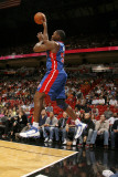 Detroit Pistons v Miami Heat: Jason Maxiell Photographic Print by Issac Baldizon