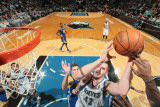 Golden State Warriors v Minnesota Timberwolves: Kevin Love Photographic Print by David Sherman