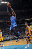 Oklahoma City Thunder v New Orleans Hornets: Jeff Green Photographic Print by Layne Murdoch