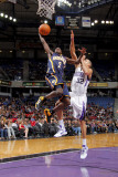 Indiana Pacers v Sacramento Kings: Darren Collison and Francisco Garcia Photographic Print by Rocky Widner
