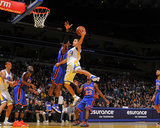 New York Knicks v Golden State Warriors: Stephen Curry Foto av Rocky Widner
