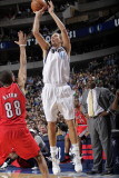 Portland Trail Blazers v Dallas Mavericks: Dirk Nowitzki and Nicolas Batum Photographic Print by Glenn James