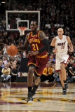 Miami Heat v Cleveland Cavaliers: J.J. Hickson and Zydrunas Ilgauskas Photographie par David Liam Kyle