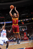 Cleveland Cavaliers v Philadelphia 76ers: Ramon Sessions and Louis Williams Photographic Print by Jesse D. Garrabrant