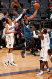 Minnesota Timberwolves v Charlotte Bobcats: Shaun Livingston and Corey Brewer Photographic Print by Kent Smith