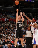 San Antonio Spurs v Los Angeles Clippers: Matt Bonner and Craig Smith Photographic Print by Noah Graham