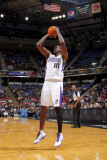 New Orleans Hornets v Sacramento Kings: Samuel Dalembert Photographic Print by Rocky Widner