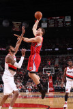 Los Angeles Clippers v Portland Trail Blazers: LaMarcus Aldridge and Blake Griffin Photographic Print by Sam Forencich