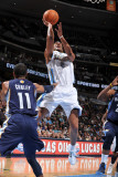 Memphis Grizzlies v Denver Nuggets: Aaron Afflalo and Mike Conley Photographic Print by Garrett Ellwood