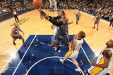 Charlotte Bobcats v Indiana Pacers: Gerald Wallace and Mike Dunleavy Photographic Print by Ron Hoskins