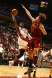 Cleveland Cavaliers v Miami Heat: Dwyane Wade and Anderson Varejao Photographic Print by Issac Baldizon