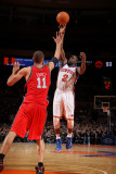 New Jersey Nets v New York Knicks: Raymond Felton and Brook Lopez Photographic Print by Nathaniel S. Butler