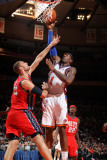 New Jersey Nets v New York Knicks: Amar'e Stoudemire and Brook Lopez Photographic Print by Nathaniel S. Butler