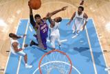 Phoenix Suns v Denver Nuggets: Hakim Warrick and Gary Forbes Photographic Print by Garrett Ellwood
