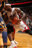 Indiana Pacers v Miami Heat: LeBron James Photographic Print by Victor Baldizon