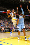 Denver Nuggets v Golden State Warriors: Monta Ellis and Al Harrington Photographic Print by Rocky Widner