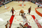 Cleveland Cavaliers v Houston Rockets: Antawn Jamison and Luis Scola Photographic Print by Bill Baptist