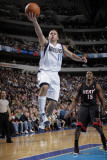 Miami Heat v Dallas Mavericks: Jose Juan Barea and Mario Chalmers Photographic Print by Glenn James