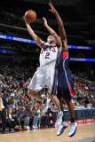 Atlanta Hawks v New Jersey Nets: Jordan Farmar Photographic Print by Jesse D. Garrabrant