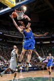 Golden State Warriors v Utah Jazz: C.J. Miles and David Lee Photographic Print by Melissa Majchrzak