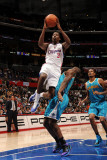 New Orleans Hornets v Los Angeles Clippers: Al-Farouq Aminu and Emeka Okafor Photographic Print by Andrew Bernstein