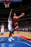 Cleveland Cavaliers v Philadelphia 76ers: Anderson Varejao and Elton Brand Photographic Print by Jesse D. Garrabrant