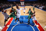 Boston Celtics v Philadelphia 76ers: Paul Pierce and Elton Brand Photographic Print by Jesse D. Garrabrant