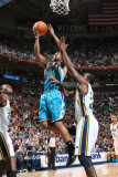 New Orleans Hornets v Utah Jazz: Willie Green and Paul Millsap Photographic Print by Melissa Majchrzak