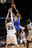 Golden State Warriors v San Antonio Spurs: Monta Ellis and Tiago Splitter Photographic Print by D. Clarke Evans