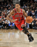 Chicago Bulls v Cleveland Cavaliers: Derrick Rose Lmina fotogrfica por David Liam Kyle