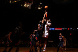 Atlanta Hawks v New York Knicks: Al Horford and Amar&#39;e Stoudemire Photographic Print by Nathaniel S. Butler