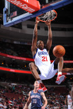 Charlotte Bobcats v Philadelphia 76ers: Thaddeus Young Photographic Print by Jesse D. Garrabrant