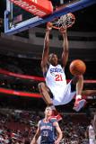Charlotte Bobcats v Philadelphia 76ers: Thaddeus Young Photographic Print by Jesse D. Garrabrant
