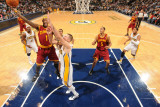 Cleveland Cavaliers v Indiana Pacers: Daniel Gibson and Josh McRoberts Photographic Print by Ron Hoskins